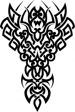 Vector tribal tattoo