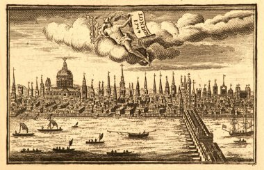 Ancient skyline view of London England..