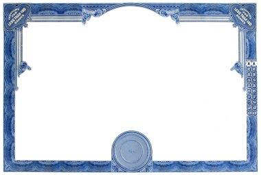 Empty Stock Certificate