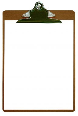 Blank Isolated Clipboard