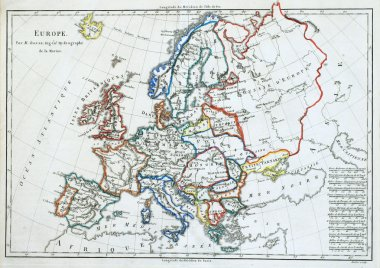 Old map of Europe.