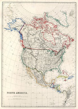 19th Century Map of North America