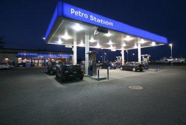 Night-time Petro Station