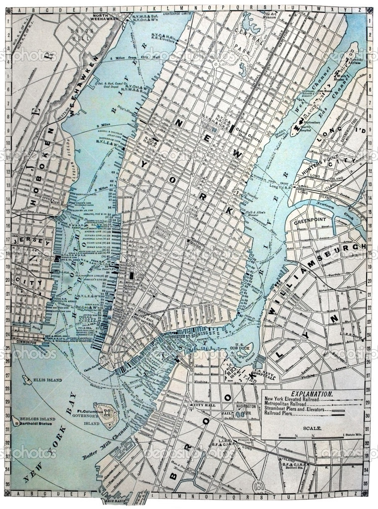 Street Map Of New York City.Old Street Map Of New York City Stock Photo C Meteor 2305771