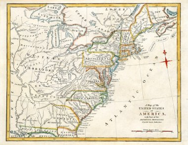 Early map of America.