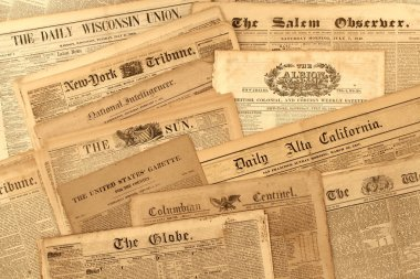 Antique Newspaper Collection