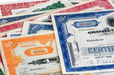 Old Stock Certifactes.