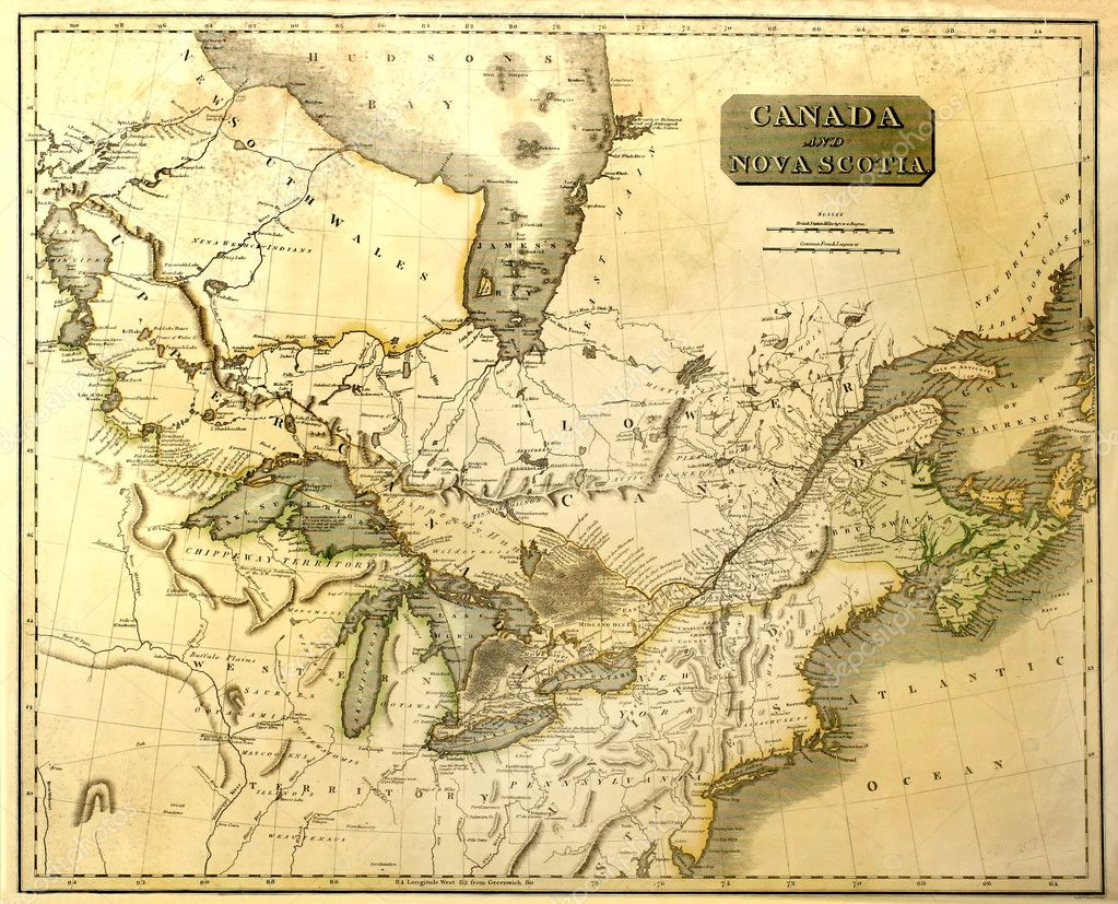 Old Map Of North America  Stock Photo  Meteor - Download map of north america
