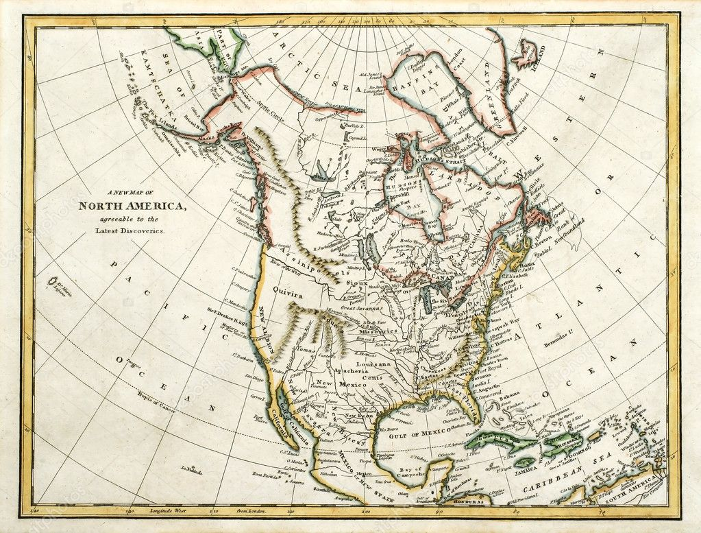 Old map of North America. — Stock Photo © meteor #2323149