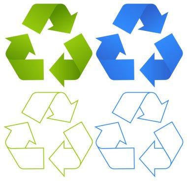 Set of recycling symbols