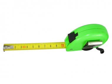 Measuring tape meter isolated over white