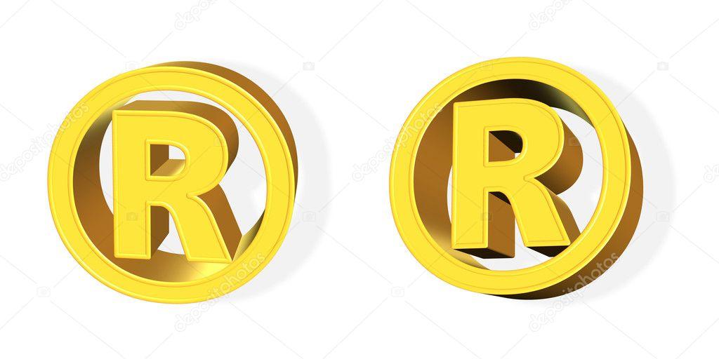 3d Registered Trade Mark Symbol Stock Photo Arogant 2082637