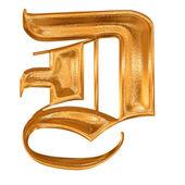 Fotografie Golden pattern gothic letter D