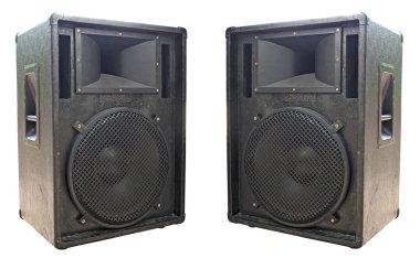 Two old concerto audio speakers