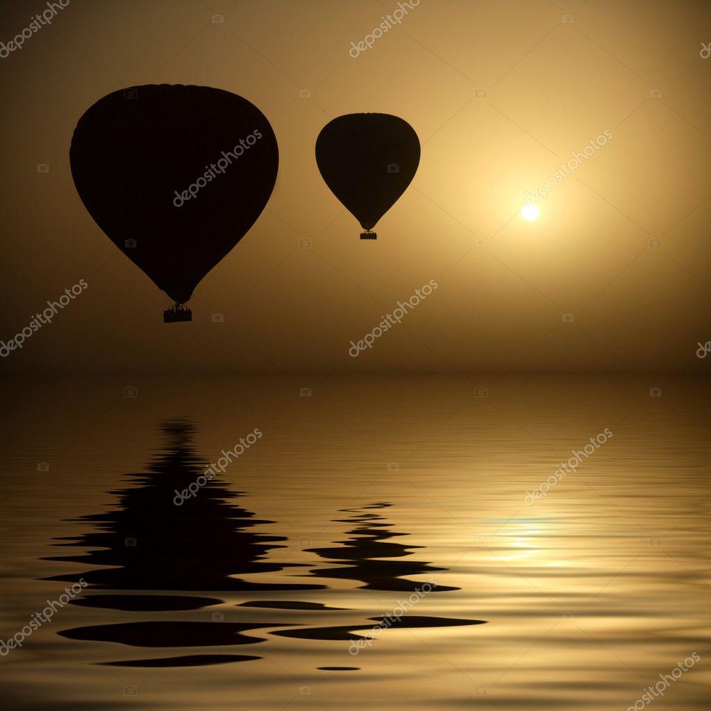 Hot Air Balloons At Eye Level