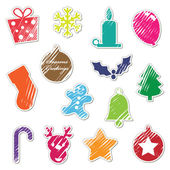 Photo Retro christmas stickers