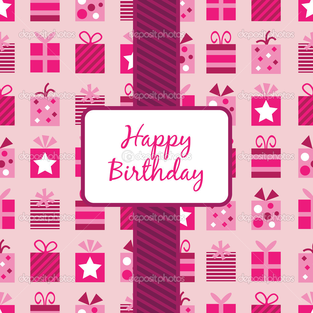 Printable Birthday Gift Wrapper ~ Pink birthday gifts wrapping stock vector � mattasbestos