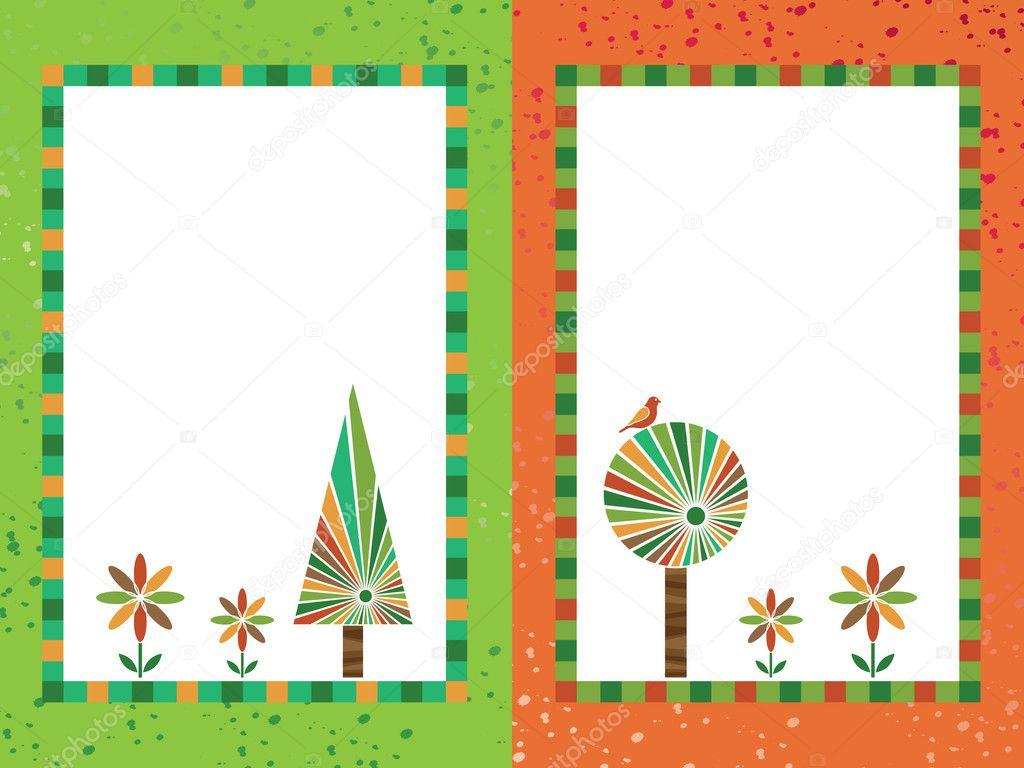 Marcos naranjas y verdes — Vector de stock © mattasbestos #2441762