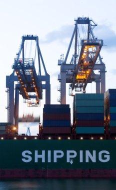 Loading of a sea-going cargo ship