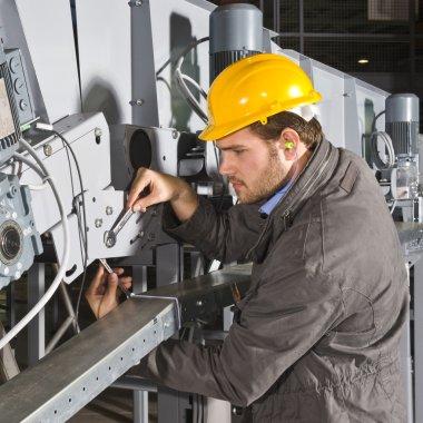 Maintenance engineer at work