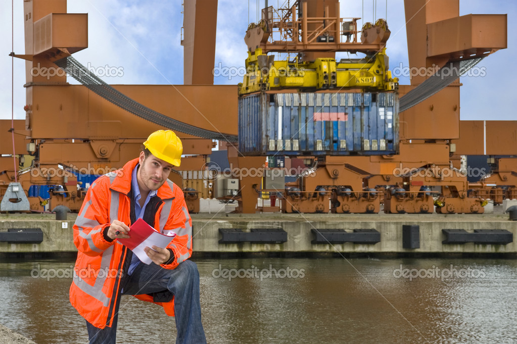Working in a commercial harbor