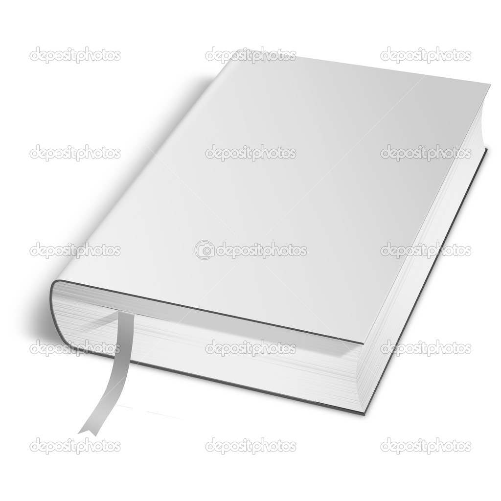 Book Cover Stock Photography ~ D book with blank cover — stock photo digitalgenetics