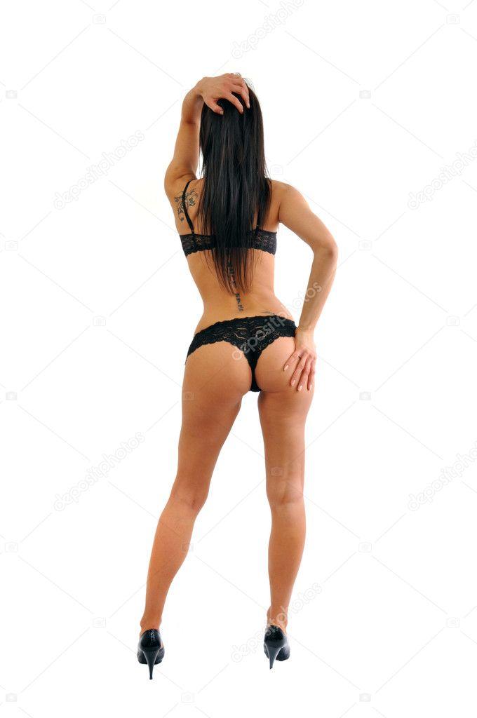 Sexy young woman posing, hot ass