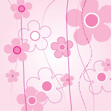 Vector floral rose background stock vector