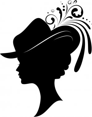 Silhouette of the young woman
