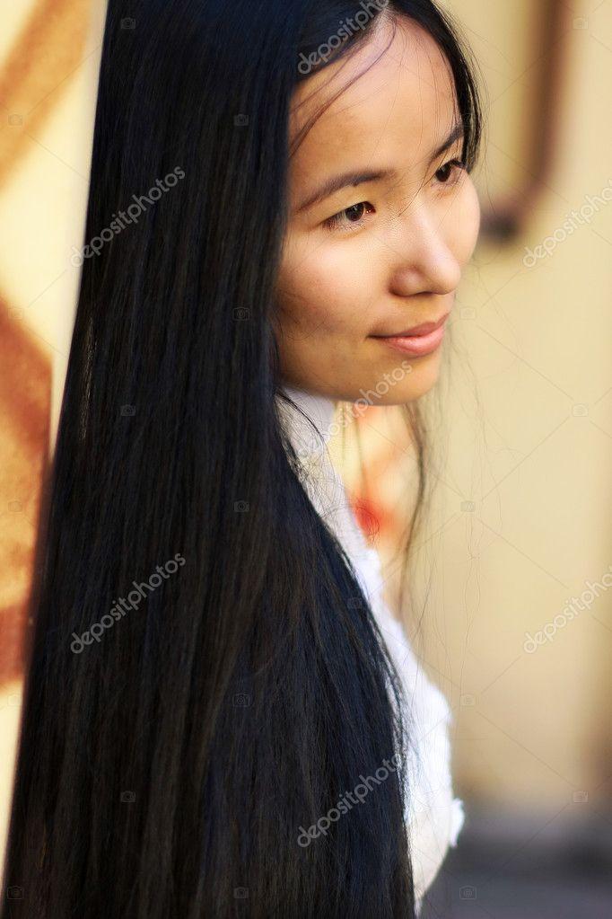 Asian Woman With Long Hairs Portrait Stock Photo C Montanara 2083544