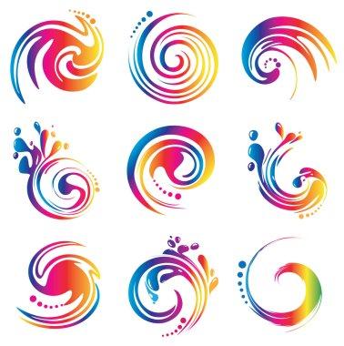 Vector spectrum symbols for designers
