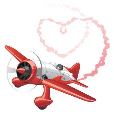 Plane sending love message
