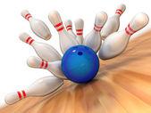 Fotografie bowling úder