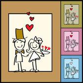 Fényképek esküvői üdvözlőlap