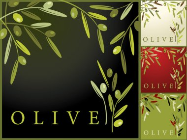 Seamless Retro Pattern with Olives