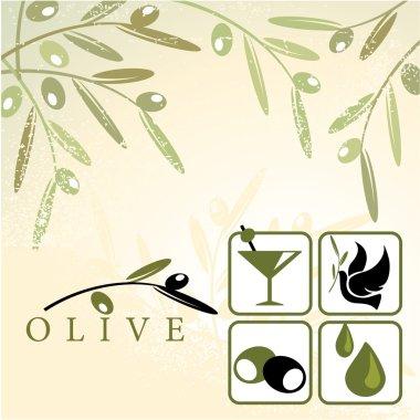 Olive and design elements