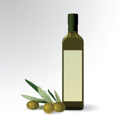 Vector illustration of olive oil bottle