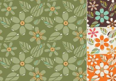Retro Seamless floral background