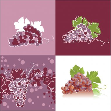 Grape, abstract background with grapes
