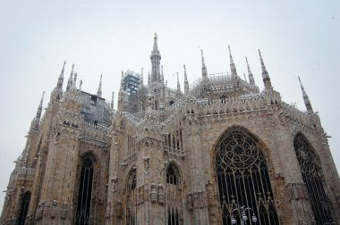Milan cathedral dome in winter