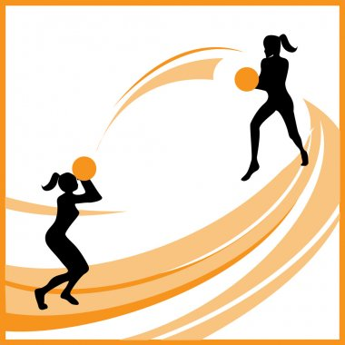 Woman basketball vector