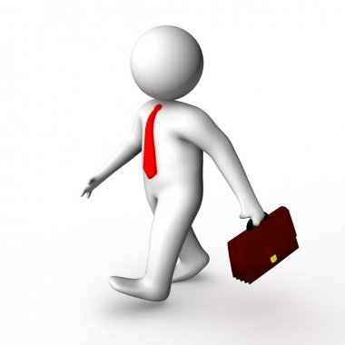 3d businessman walking