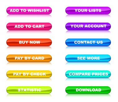 Buttons for internet shop