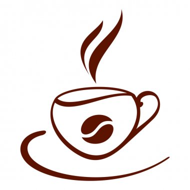 Stylized cup of coffee