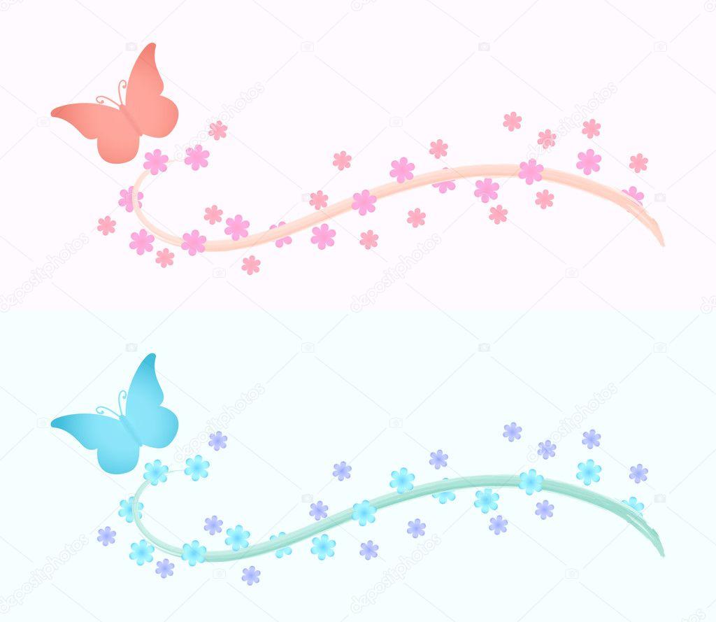 Design elements for banner or background