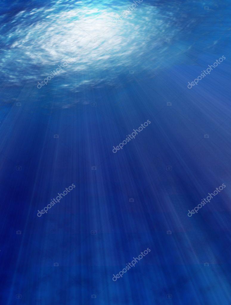 Sun beams passing through water. Watwrtexture