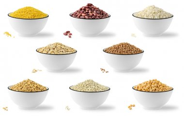 Collection of cereals and legumes