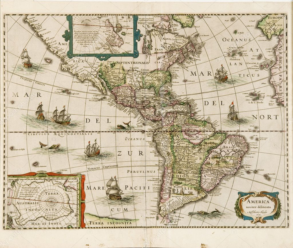 Old world map stock photo shippee 2201791 america map dated 1631 showing north and south america photo by shippee gumiabroncs Image collections