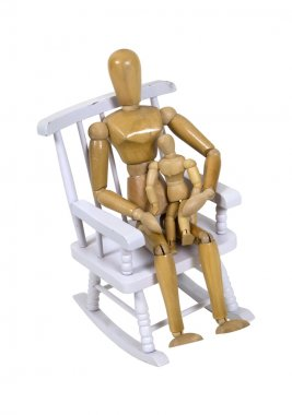 Parent and child in rocking chair
