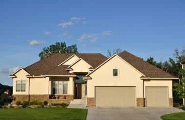 Suburban Executive Home, real estate, copy space stock vector